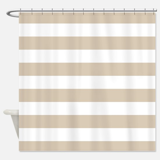 beige striped shower curtain. Brown  Beige Stripes Pattern Hori Shower Curtain And White Striped Curtains CafePress