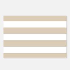 Brown, Beige: Stripes Pat Postcards (Package of 8)