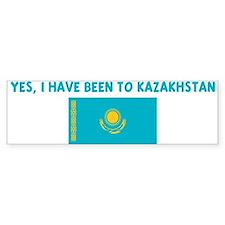 YES I HAVE BEEN TO KAZAKHSTAN Bumper Bumper Bumper Sticker