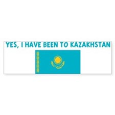 YES I HAVE BEEN TO KAZAKHSTAN Bumper Bumper Stickers