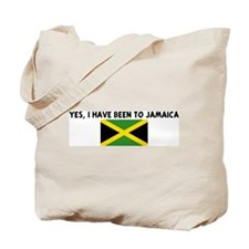YES I HAVE BEEN TO JAMAICA Tote Bag