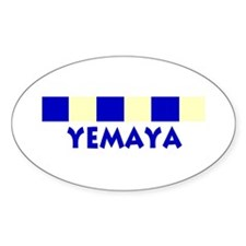 Yemaya Oval Decal