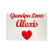 Grandpa Loves Alexis Rectangle Magnet
