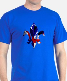 Red, white & blue Fleur de lis T-Shirt