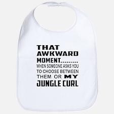 That awkward moment... Jungle-curl cat Bib