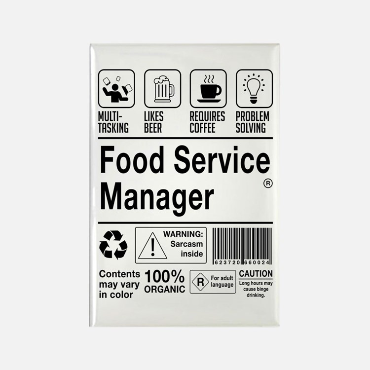 Food Service Manager Magnets