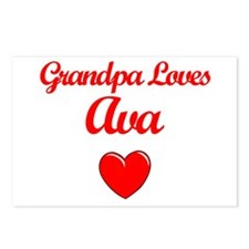 Grandpa Loves Ava Postcards (Package of 8)