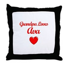 Grandpa Loves Ava Throw Pillow