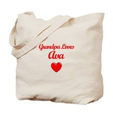 Grandpa Loves Ava Tote Bag