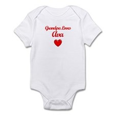 Grandpa Loves Ava Infant Bodysuit