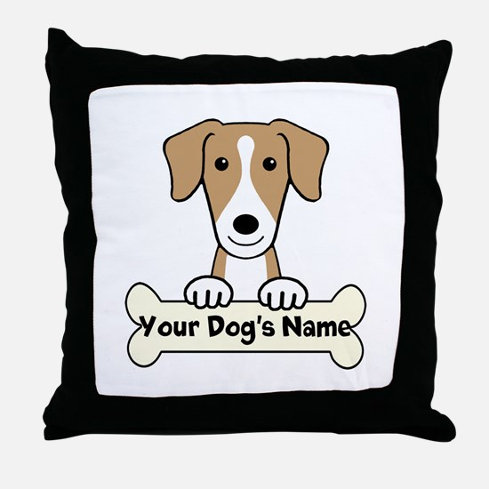 Personalized American Foxhound Throw Pillow