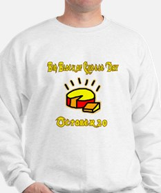 blockocheese white front1 Sweatshirt