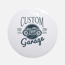 Cute Motorcycle design Round Ornament