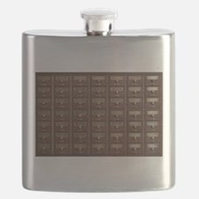 Vintage Library Card Catalog Drawers Flask