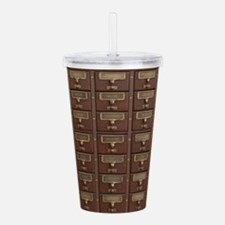 Vintage Library Card C Acrylic Double-wall Tumbler