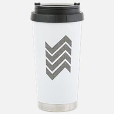 Herringbone Geometric P Stainless Steel Travel Mug
