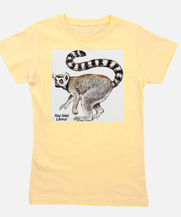Ring-Tailed Lemur Ash Grey T-Shirt