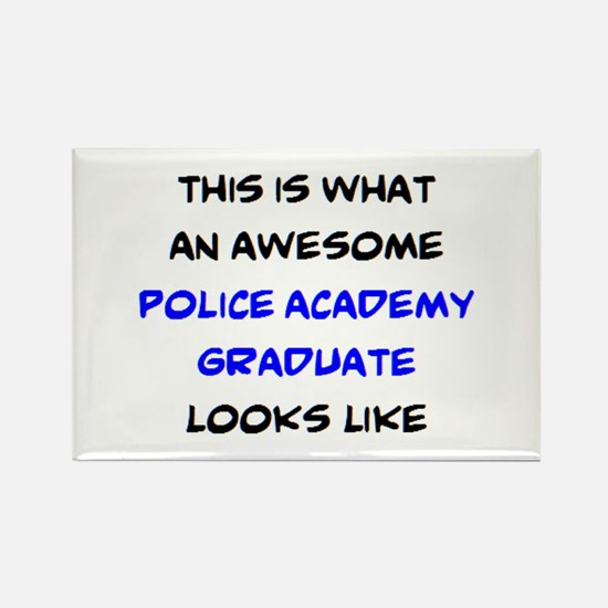 awesome police academy Rectangle Magnet