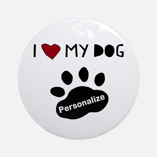 Personalized Dog Round Ornament