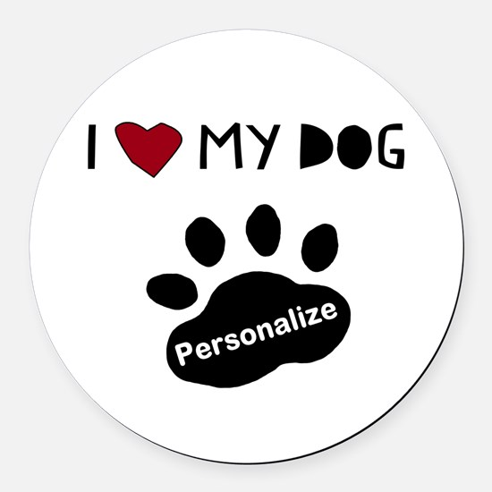 Personalized Dog Round Car Magnet