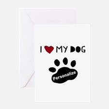 Personalized Dog Greeting Card