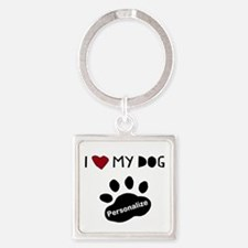 Personalized Dog Square Keychain