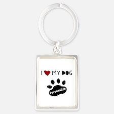 Personalized Dog Portrait Keychain