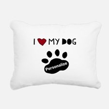Personalized Dog Rectangular Canvas Pillow