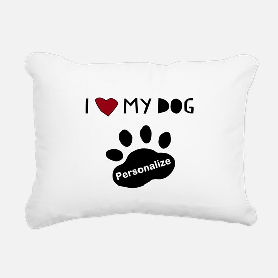 Personalized Dog Rectangular Canvas Pillow
