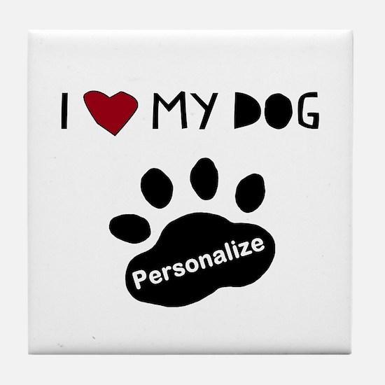 Personalized Dog Tile Coaster