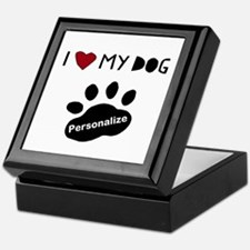 Personalized Dog Keepsake Box