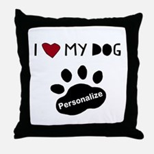 Personalized Dog Throw Pillow