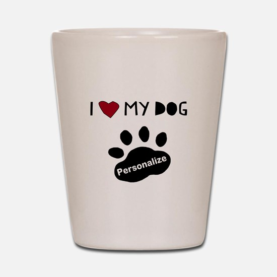 Personalized Dog Shot Glass