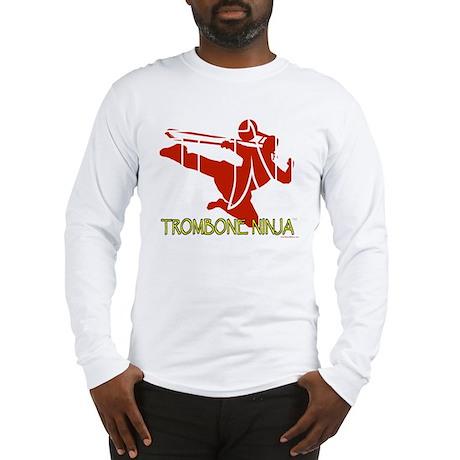 Trombone Ninja-Transparent Long Sleeve T-Shirt