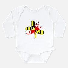 Maryland Irish Shamrock Infant Creeper Body Suit