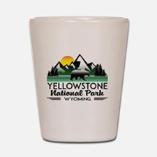 Unique Yellowstone national park Shot Glass