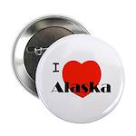 """I Love Alaska! 2.25"""" Button (100 pack)"""