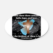 Funny Love text Oval Car Magnet