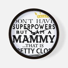 SUPER MAMMY! Wall Clock