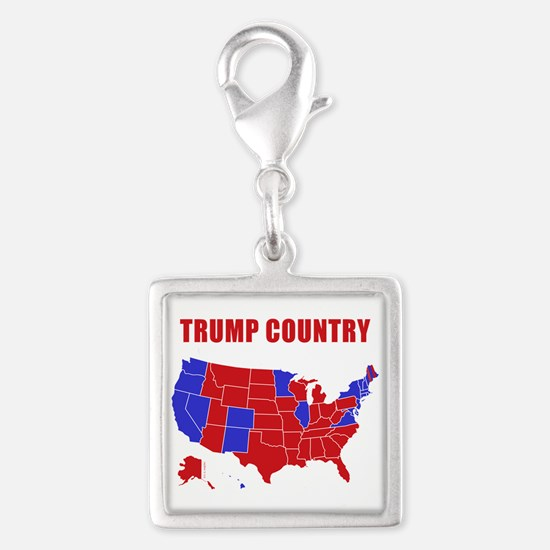 Trump Country Silver Square Charm