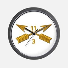 3rd Bn 11th SFG Branch wo Txt Wall Clock