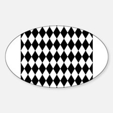 Black and White Harlequin Pattern Decal