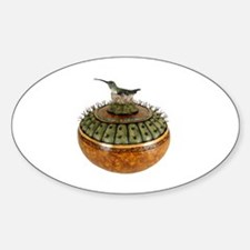 Cute Hummingbird art Sticker (Oval)