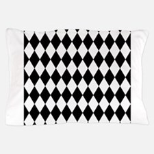 Black and White Harlequin Pattern Pillow Case