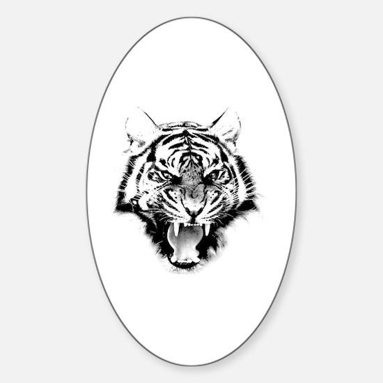 Cute Attack cat Sticker (Oval)