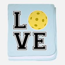 Love Pickleball baby blanket
