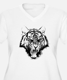 Angry Tiger Roar Plus Size T-Shirt