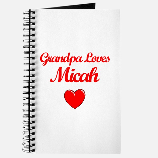 Grandpa Loves Micah Journal