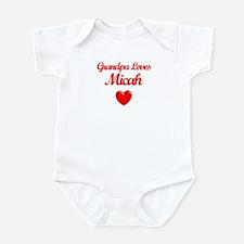 Grandpa Loves Micah Infant Bodysuit