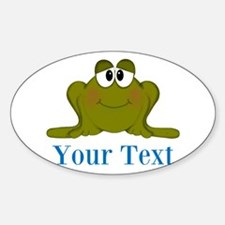 Personalizable Blue Frog Decal